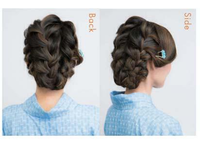 ゆかた髪型 ミディアムロング2