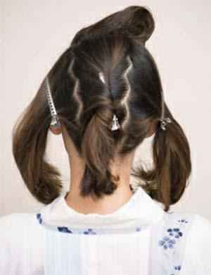 ゆかた髪型 ミディアムロング セット