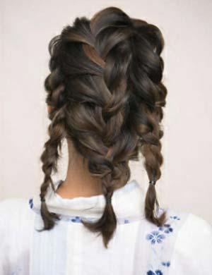 ゆかた髪型 ミディアムロング セット2