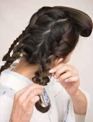ゆかた髪型 ミディアムロング セット3