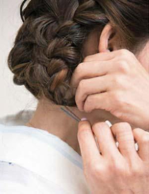 ゆかた髪型 ミディアムロング セット4