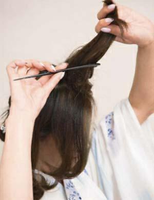 ゆかた髪型 ミディアムロング セット5