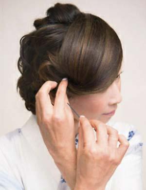 ゆかた髪型 ミディアムロング セット6