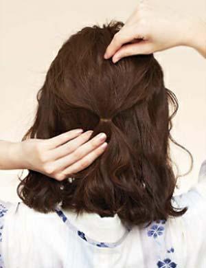 ゆかた髪型 ミディアム セット2