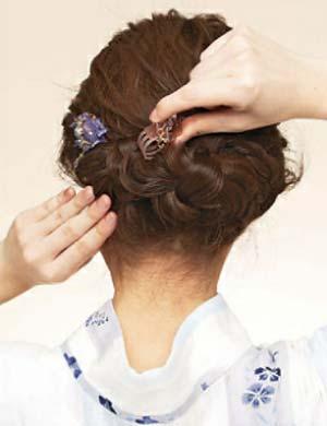 ゆかた髪型 ミディアム セット5