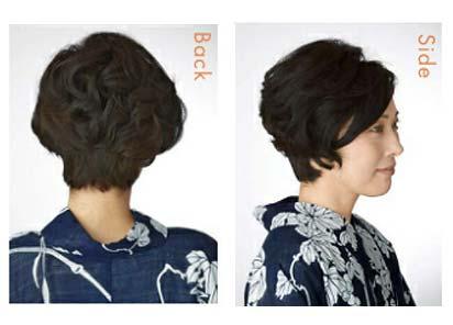 ゆかた髪型 ショート2