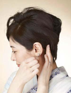 ゆかた髪型 ショート セット2