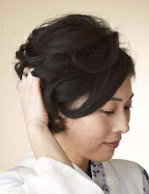 ゆかた髪型 ショート セット3