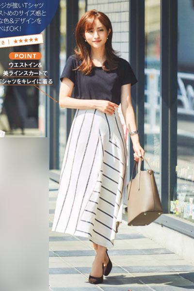 Tシャツ通勤コーデ2