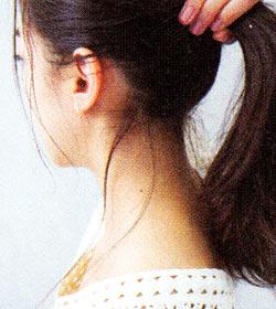 後れ毛の作り方2
