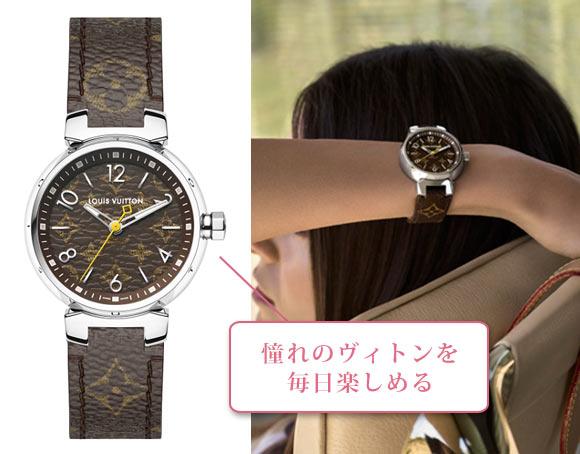 タンブール モノグラム 腕時計