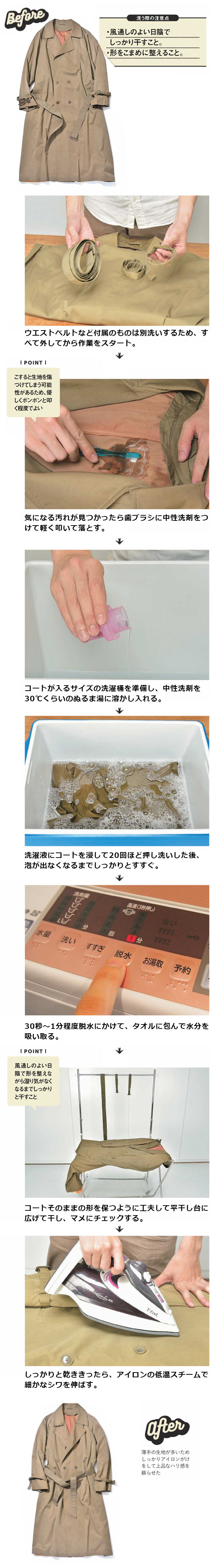 トレンチコート洗濯