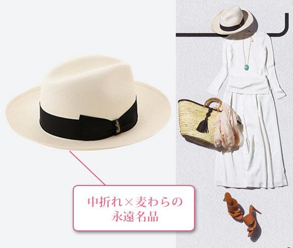 ボルサリーノ 麦わら帽子